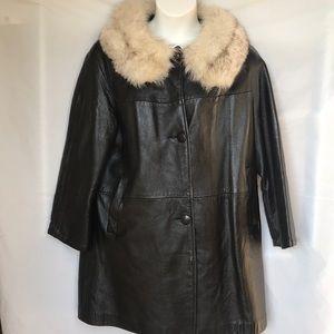 6d44014dc83 Jackets   Blazers - Ladies fur collar Plus Size Leather Coat Size 2XL